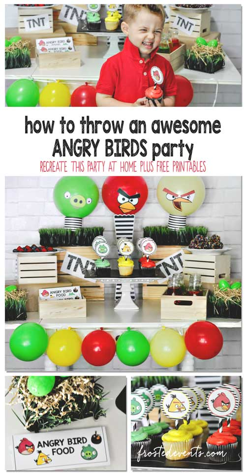Angry Birds Party IDeas and Free Printables @frostedevents