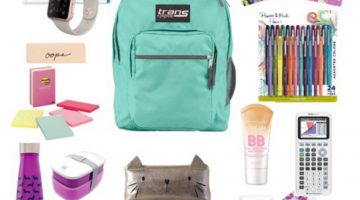 Back to School Shopping Checklist Girls Teens Supplies