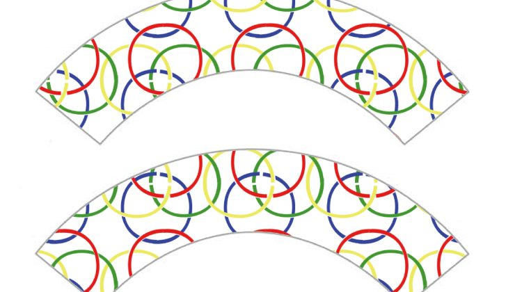 Printable Cupcake Wrappers - Olympic Rings