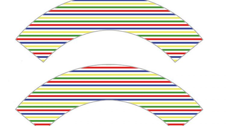 Printable Cupcake Wrappers - Stripes