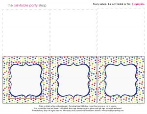 photograph about Printable Food Labels referred to as Printable Food stuff Labels - Tents - Frosted Mothers