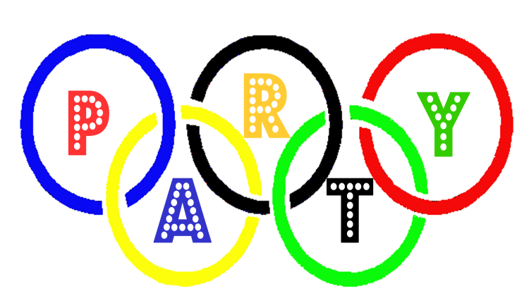 Olympics Party Sign LogoOlympics Party Sign Logo