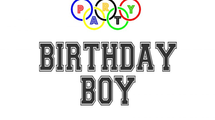 Olympic Games Party Printables Sign