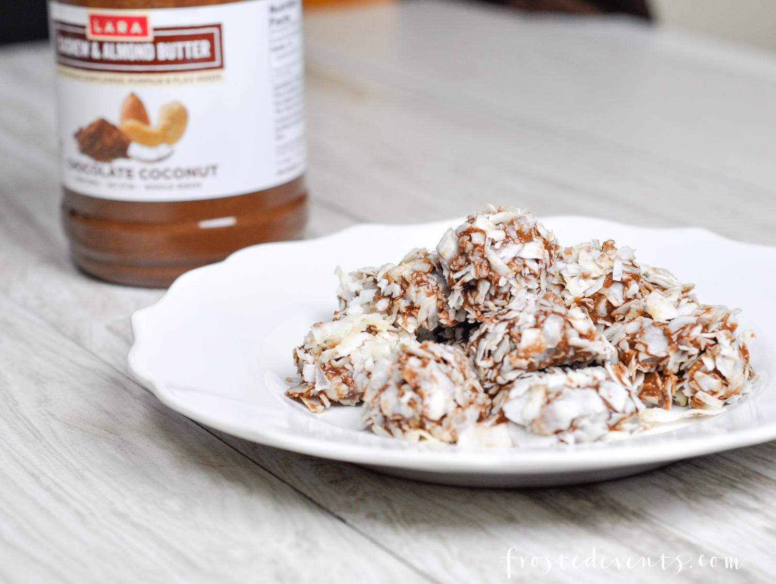 Chocolate Nut Butter Truffles Recipe with LARA Nut Butter frostedevents.com @frostedevents Dessert Recipes Snacks and Treats