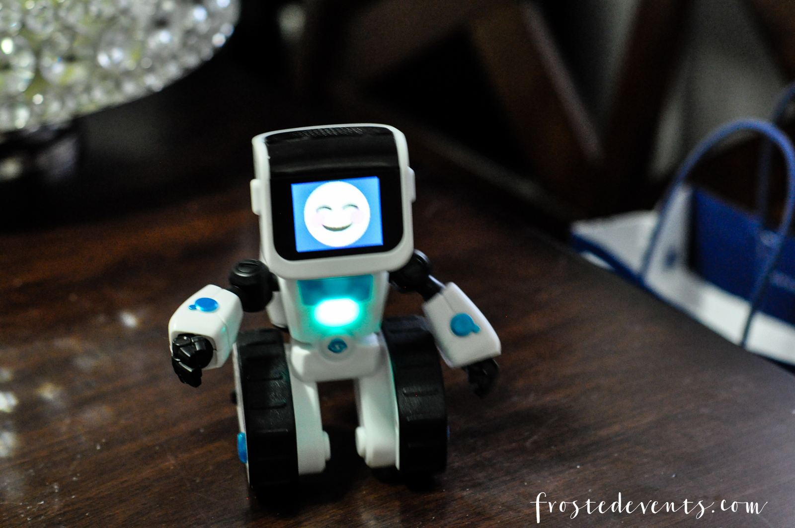 Cool Kid's Toys Power Imagination and Top Christmas Lists CHiP robot dog and COJI emoji robot review by Misty Nelson @frostedevents mom blogger