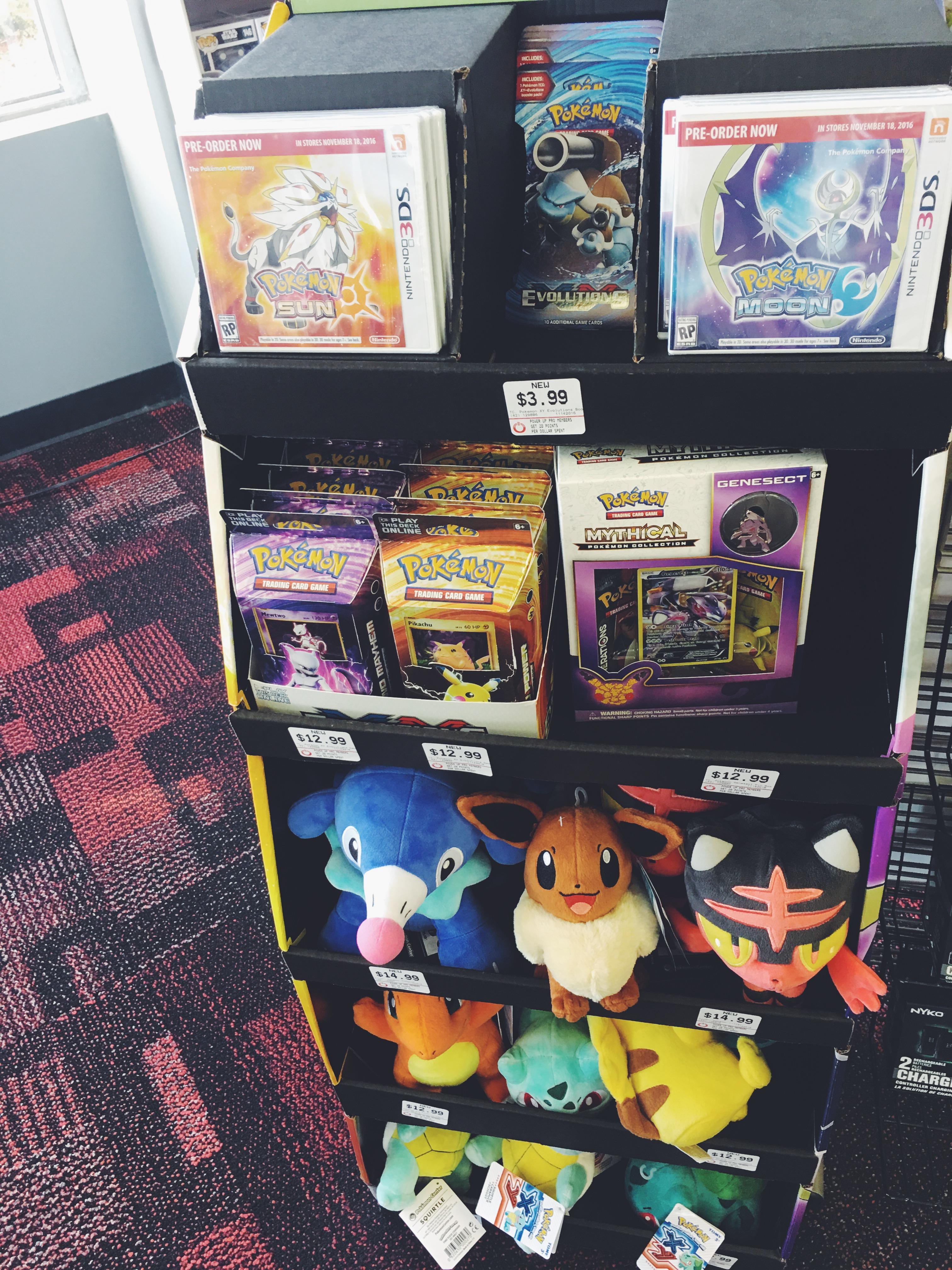 Pokemon Moon and Pokemon Sun Games at GameStop