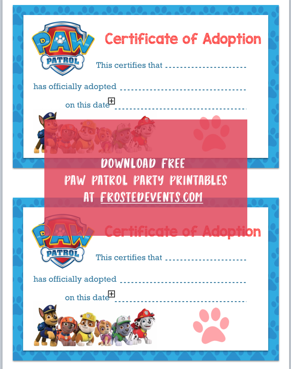 photo about Paw Patrol Printable Decorations known as Paw Patrol Occasion Printables Paw Patrol Birthday Get together Absolutely free