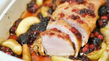 Holiday Recipes- Cranberry Pork Loin Roast via Misty Nelson @frostedevents and Smithfields