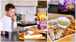 Baked Chicken Tenders Recipes - Coconut Chicken Strips and Tasty McCain Seasoned Fries -- Easy dinner ideas via Misty Nelson Frosted Moms Blog @frostedevents