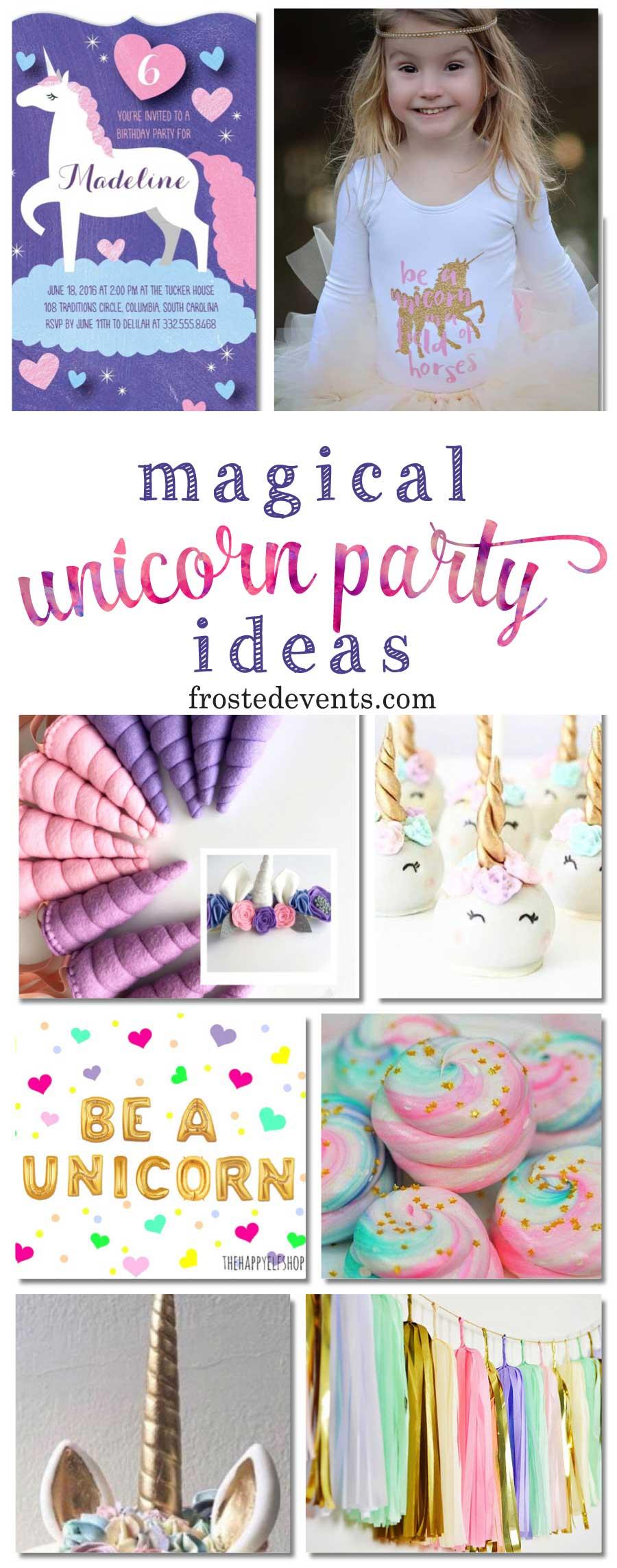 Unicorn Party Decorations and Unicorn Birthday Party Ideas