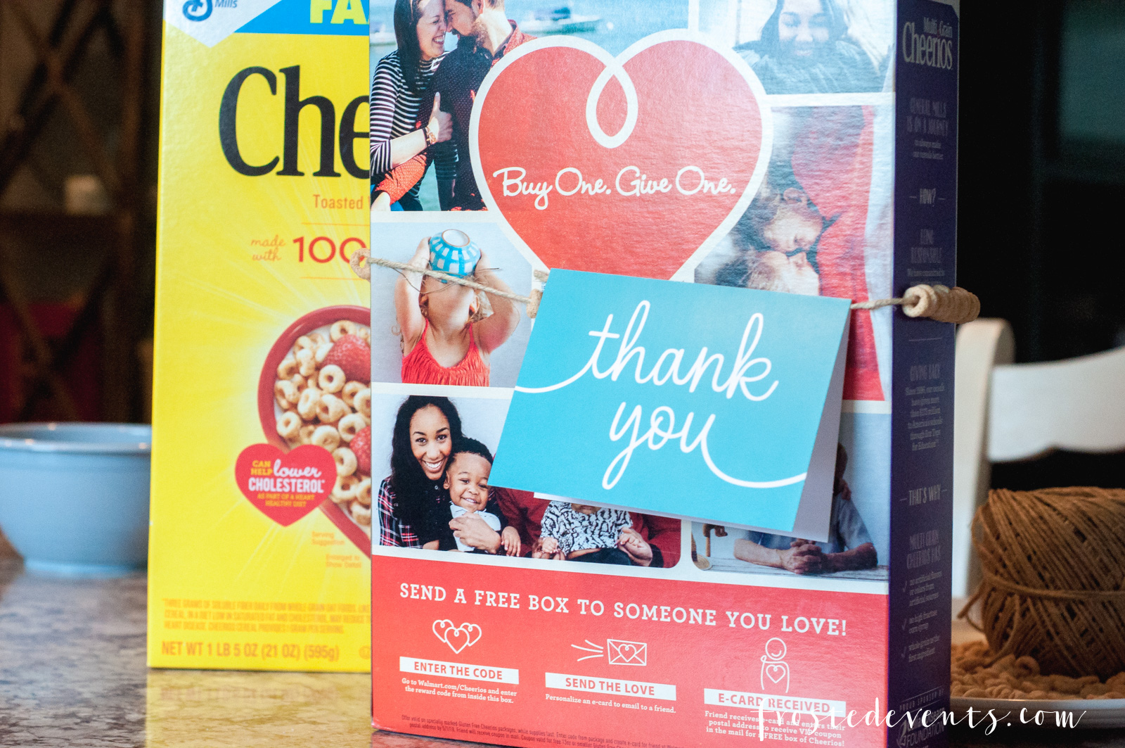 Cheerios Cereal Love to Give Buy a Box Give a Box The kids made Cheerios necklaces... via Misty Nelson mom blogger frostedMOMS @frostedevents