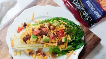 Delicious Recipes, Cheese Recipes - Grill Recipes - Roasted Romaine Salad made with real, fresh cheese via Misty Nelson @frostedevents