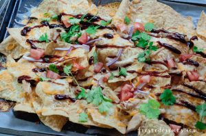 Cheese Recipe - BBQ Chicken Nachos made with real, fresh cheese via Misty Nelson @frostedevents