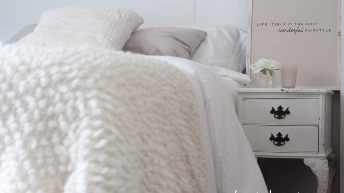 Our Guest Bedroom Makeover Details via Misty Nelson best sheets, mattress topper, best towels, best pillow for a cozy bed