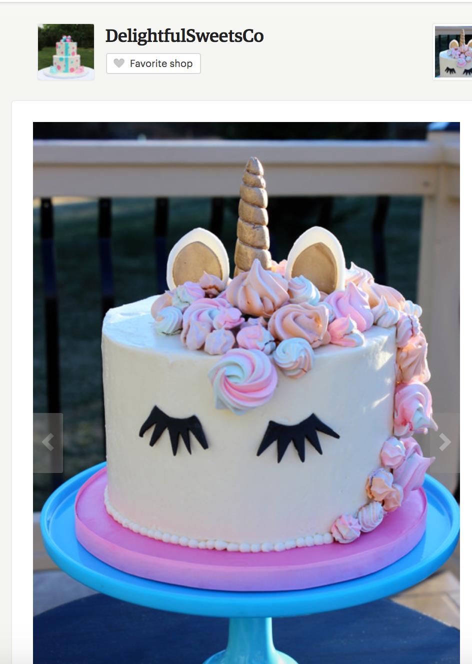 Unicorn Cakes - Unicorn Birthday Party Ideas via frostedMOMS Where to order a magical unicorn cake, unicorn birthday cake