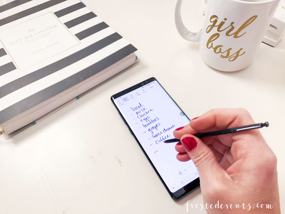 Samsung Galaxy Note8 Helps Moms Do It All - Increase productivity, take great pictures, jot notes .. Smartphone tech via Misty Nelson, frostedblog