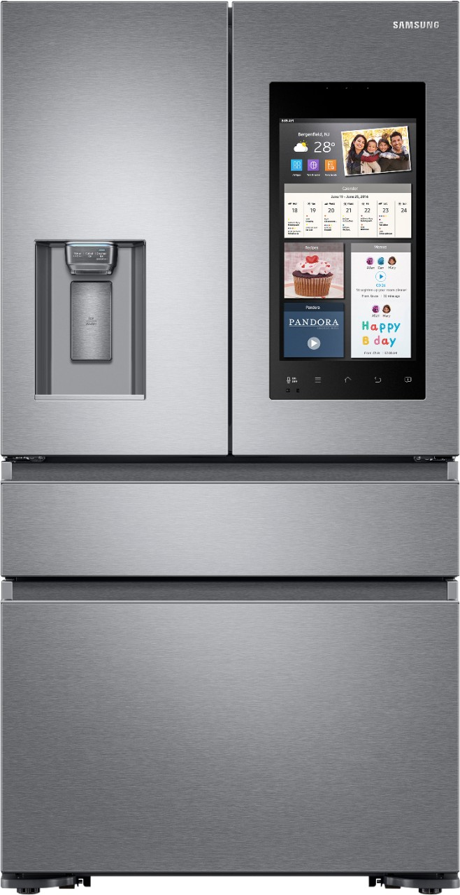 Samsung Refrigerator Samsung Family Mobile Hub Fridge - Holiday Prep Help via Misty Nelson , tech blogger and influencer