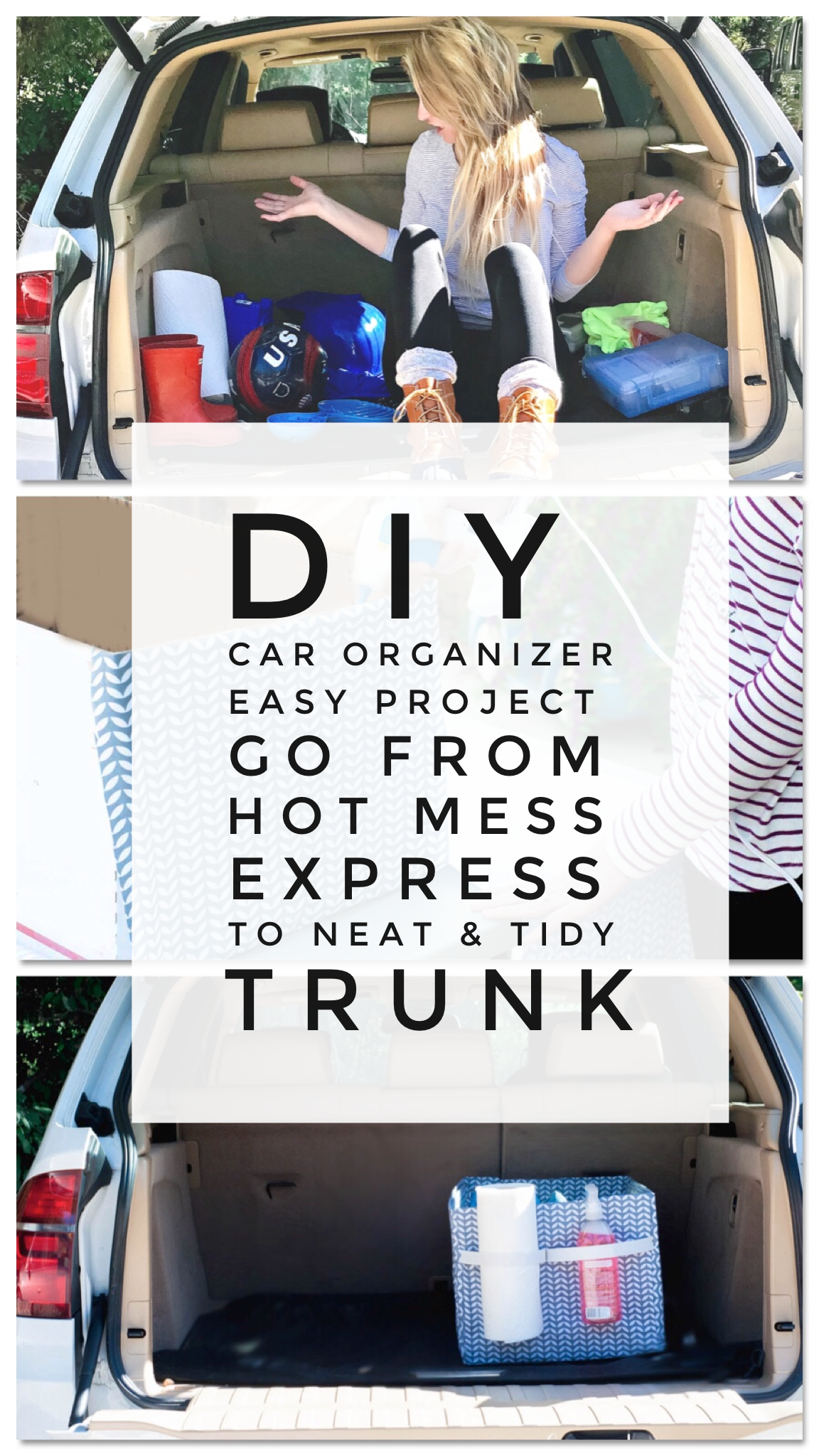Car Hacks - DIY Trunk Organizer to Contain Your Mom Life Mess