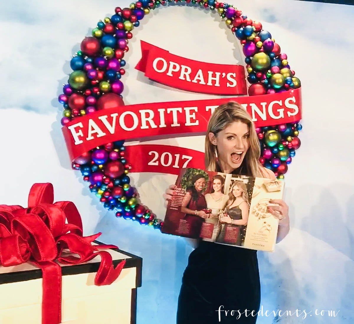 Oprah's Favorite Things 2017 Party - How this mom got to go to the best holiday party ever, get all the gifts and drink tequila with Oprah Winfrey -via Misty Nelson, mom blogger and influencer @frostedevents frostedblog.com