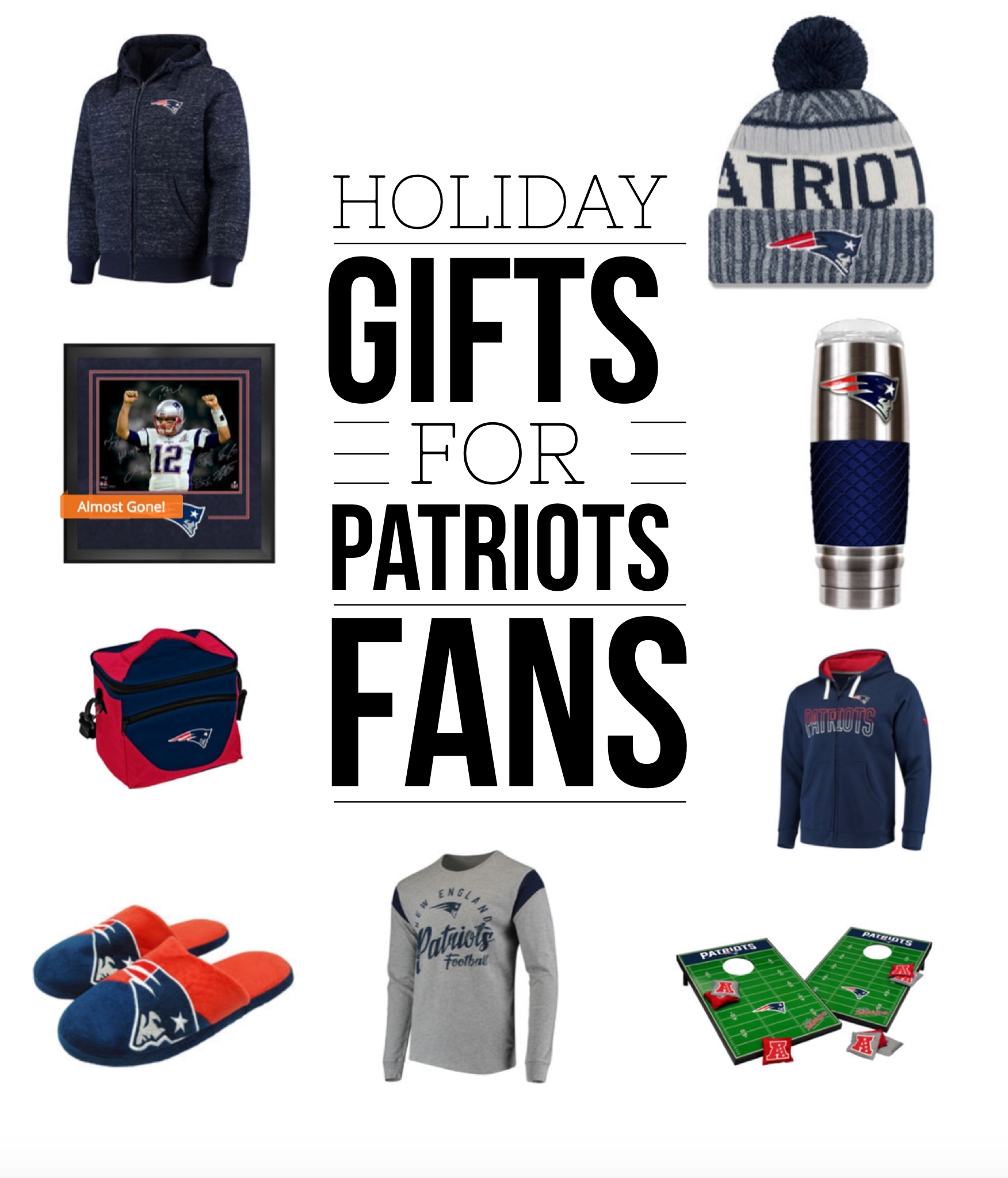 Patriots Gear - Holiday Gift Guide for New England Patriots Fans via Misty Nelson frostedblog.com @frostedevents #NFLFanStyle