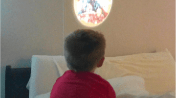 Marvel Avengers Projectables Night Light for Kids - via Misty Nelson mom blogger, influencer frostedblog.com @frostedevents