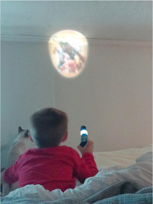 Marvel Avengers Projectables Night Light for Kids - via Misty Nelson mom blogger, influencer frostedblog.com @frostedevents