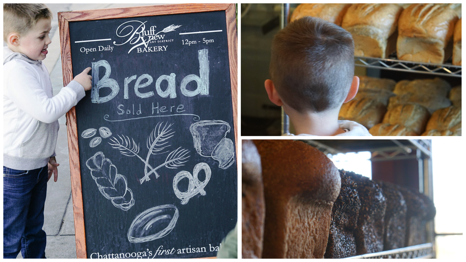 Chattanooga Tennessee Things to Do - Family Travel, Vacation and Spring Break Fun via Misty Nelson Travel Blogger - Bluff View Bakery Bread Shop