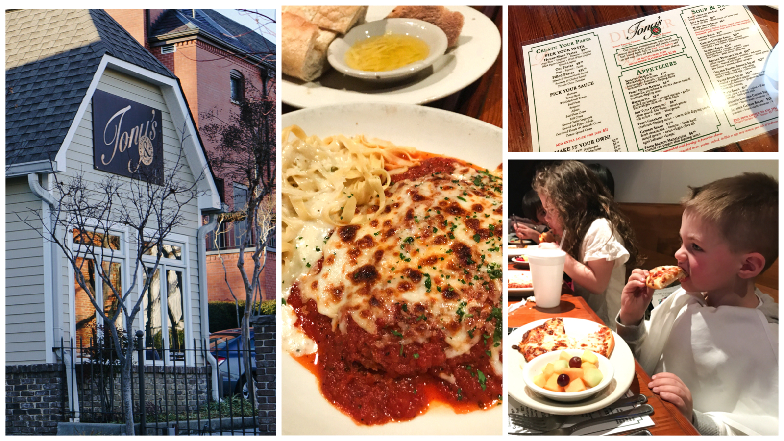 Chattanooga Tennessee Things to Do - Family Travel, Vacation and Spring Break Fun via Misty Nelson Travel Blogger - Tony's Pasta Shop in Bluff View Art District