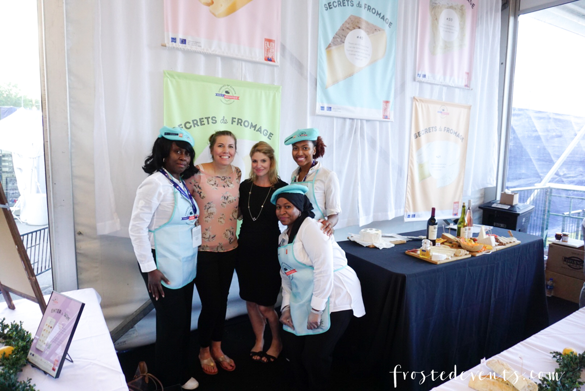 Cheeses of Europe VIP Tasting Winston Salem US Open Tennis - Misty Nelson, frostedblog frostedevents.com @frostedevents
