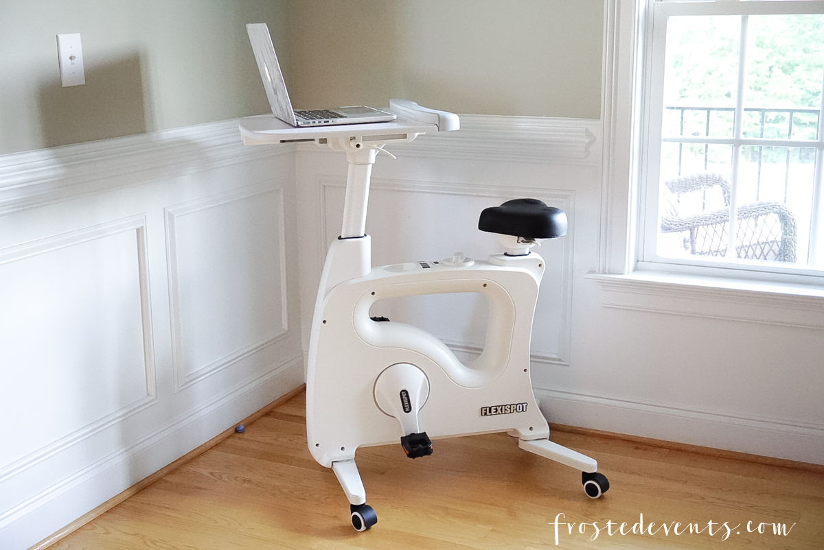 FlexiSpot Desk Bike - Indoor Cycling Spin Bike - Multitasking Moms Exercise via Misty Nelson, frostedevents.com Frosted Blog