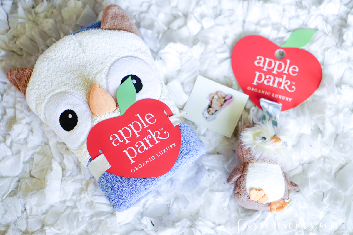 Newborn Stuff - New Mom List of Essentials and Baby Products via Misty Nelson, Frosted Blog @frostedevents Apple Park Baby Lovies