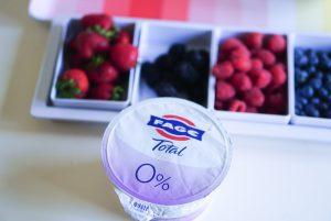 FAGE Yogurt Bar - Greek Yogurt Bowls at home via Misty Nelson, Frosted Blog @frostedevents