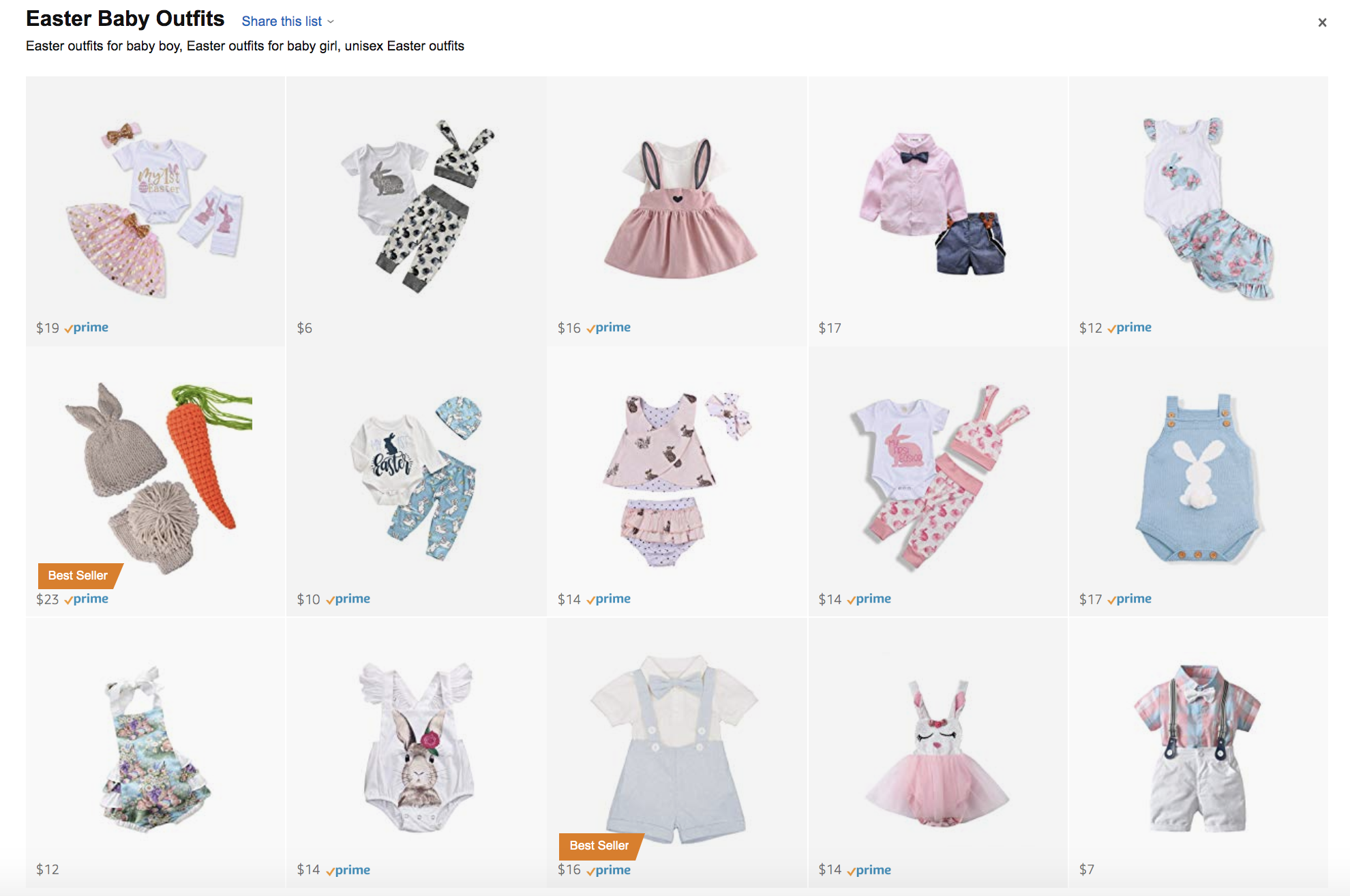 Easter Baby Outfits