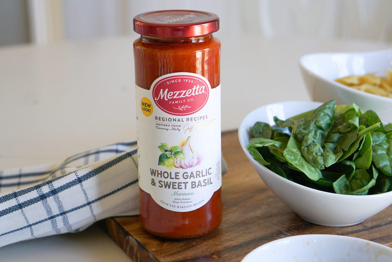 Sun-dried Tomato & Spinach Pasta with Mozzarella