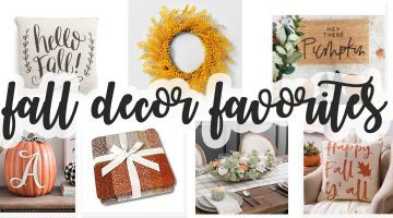 Fall Decor Favorites - Where to find fall home decor