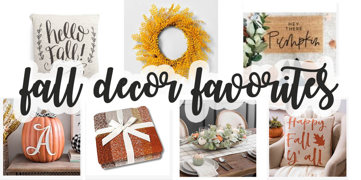 Fall Decor Ideas  - Where to find fall home decor