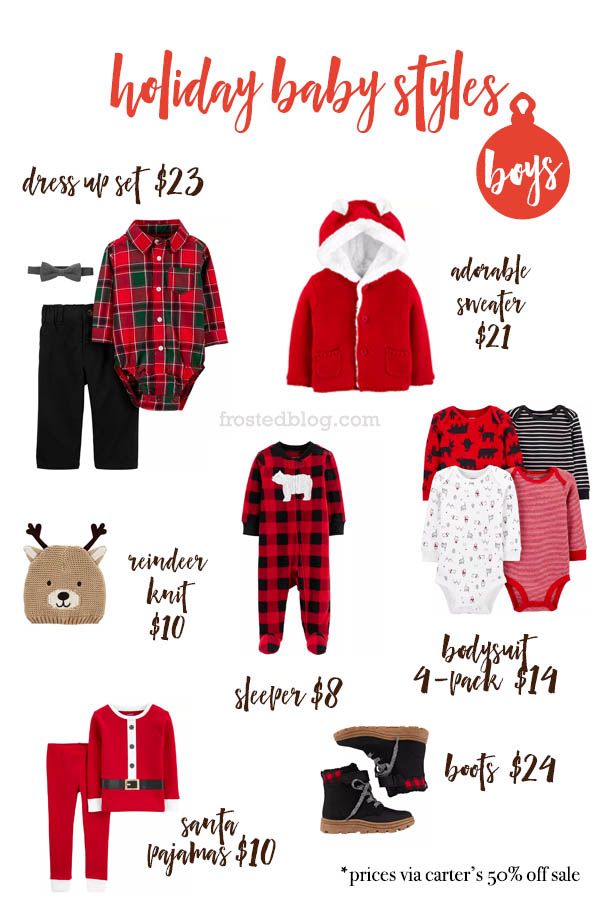 Baby Holiday Outfits Carter's Sale - Christmas outfits for baby via frostedblog.com Misty Nelson