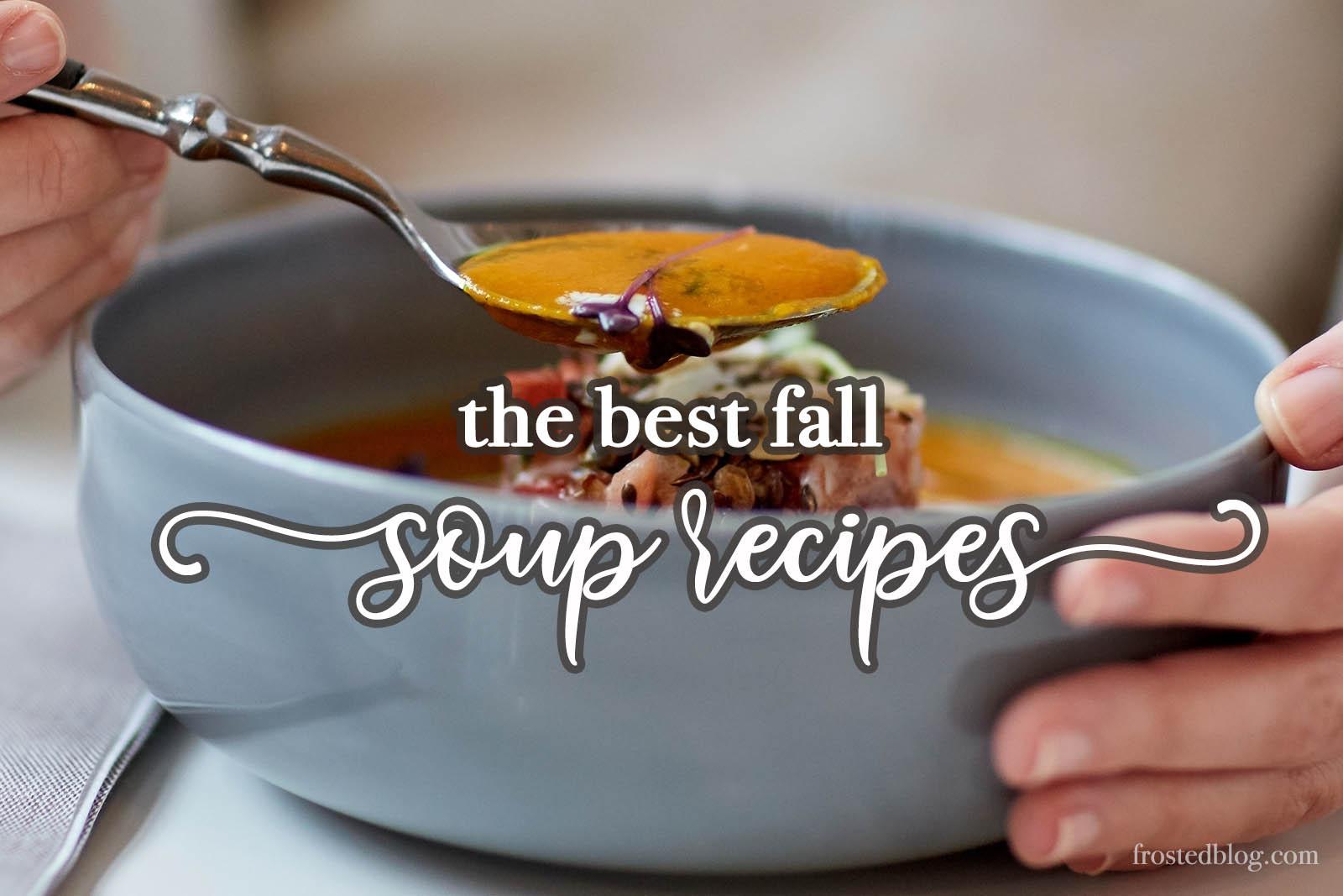 Fall Soups - Best Soup Recipes- Cozy Ideas via Misty Nelson @frostedevents
