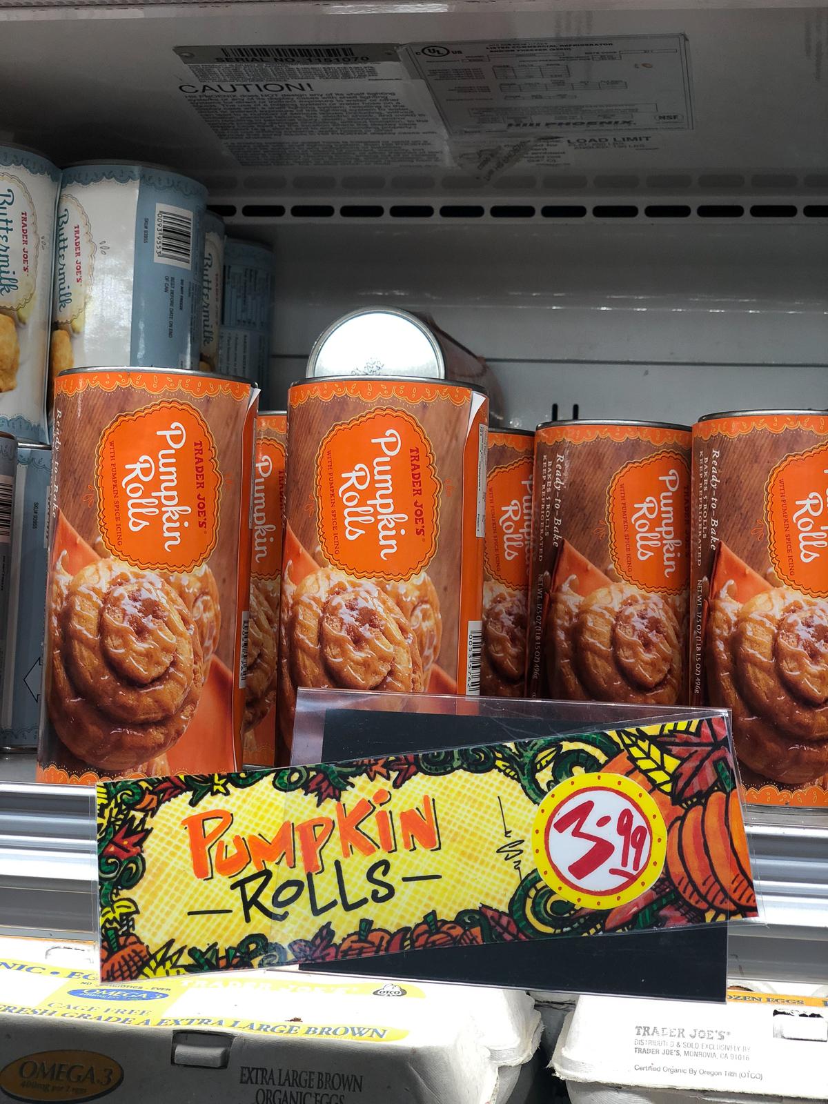 50+ Trader Joe's Pumpkin Favorites and Fall Eats - Pumpkin Rolls
