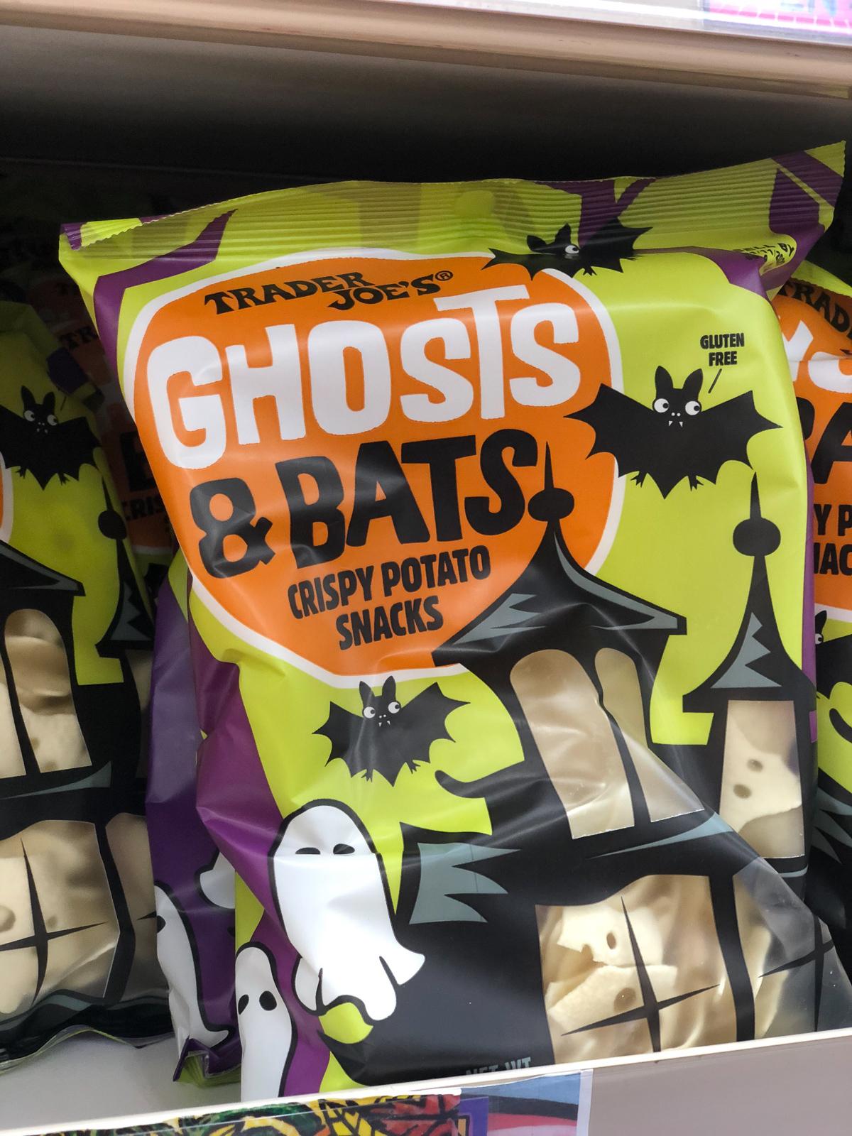 50+ Trader Joe's Pumpkin Favorites and Fall Eats - Ghosts and Bats Snacks