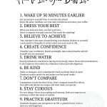 How to Live Your Best Life - Printable Inspiration and Wallpapers via frostedblog, Misty Nelson