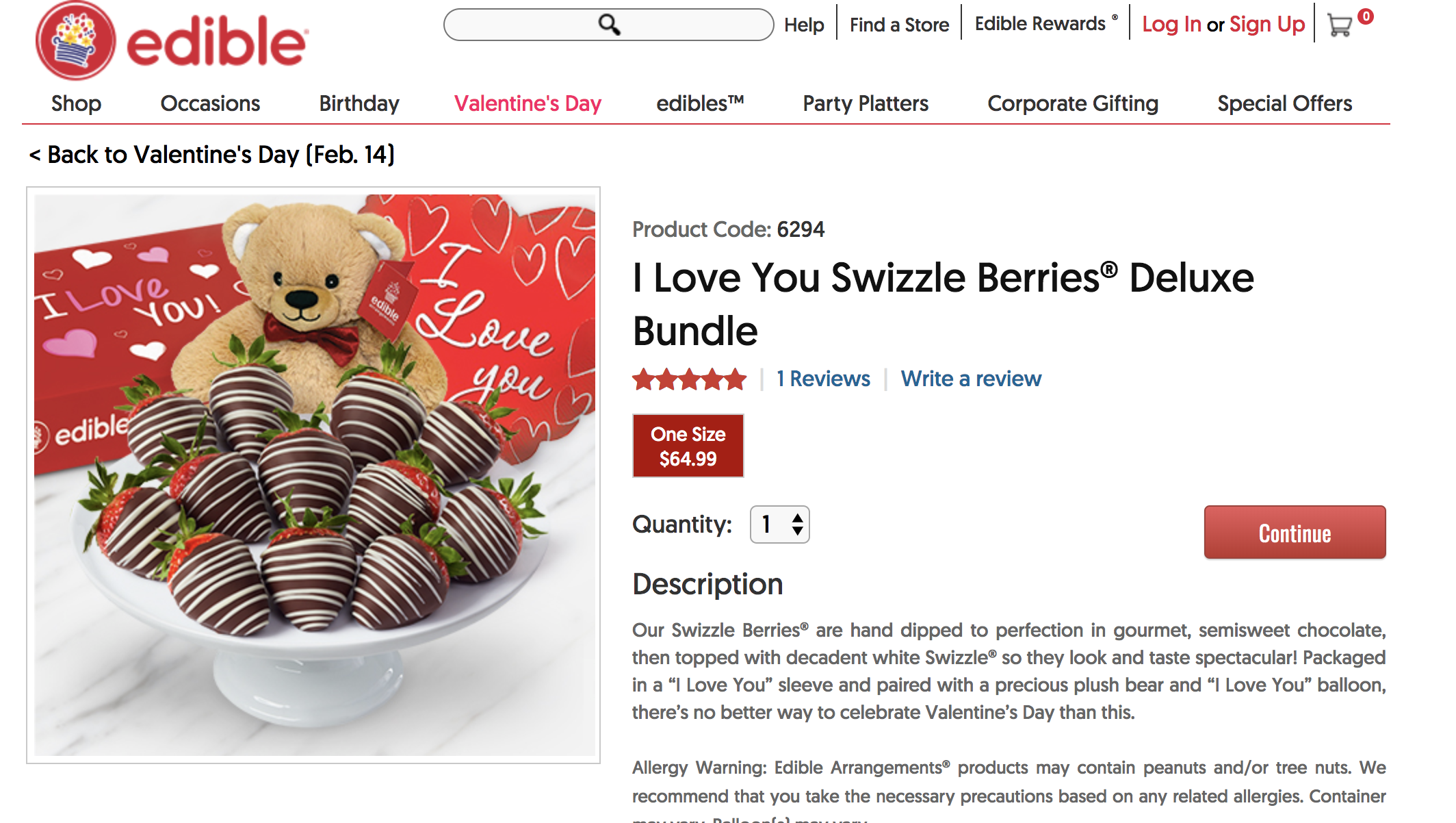 Edible Arrangements Valentines Gift Ideas - Chocolate Covered Strawberries and Bear