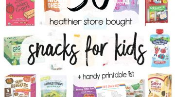 Healthy Snacks for Kids - Store Bought Kids Snacks and printable grocery list for moms