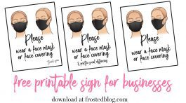 Please Wear a Face Mask sign for businesses - free printable download